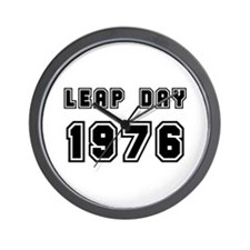 LEAP DAY 1976 Wall Clock