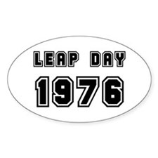 LEAP DAY 1976 Oval Decal