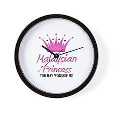 Malaysian Princess Wall Clock