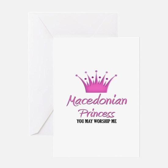 Macedonian Princess Greeting Card