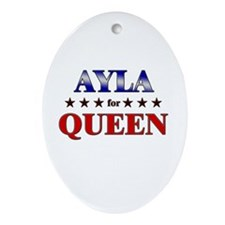 AYLA for queen Oval Ornament