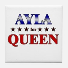 AYLA for queen Tile Coaster