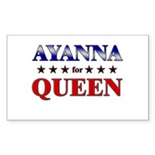 AYANNA for queen Rectangle Decal