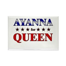 AYANNA for queen Rectangle Magnet (10 pack)