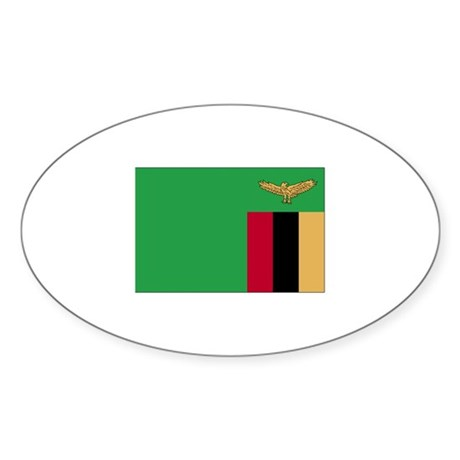 Zambia Oval Sticker