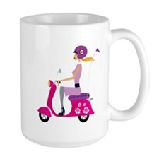 Scooter Girl Large Coffee Mug