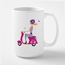 Scooter Girl Large Coffee Mug