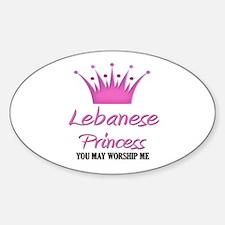 Lebanese Princess Oval Decal