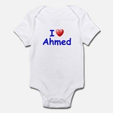 I Love Ahmed (Blue) Infant Bodysuit