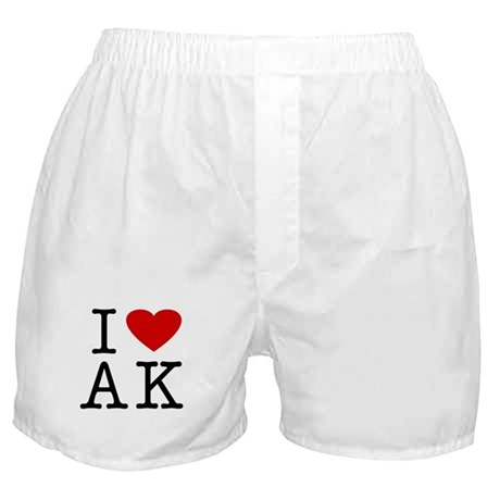 I Love Alaska (AK) Boxer Shorts