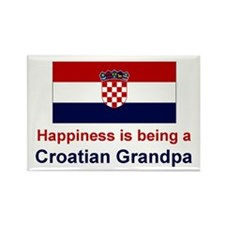 Happy Croatian Grandpa Rectangle Magnet