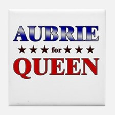 AUBRIE for queen Tile Coaster