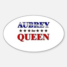 AUBREY for queen Oval Decal