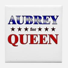 AUBREY for queen Tile Coaster