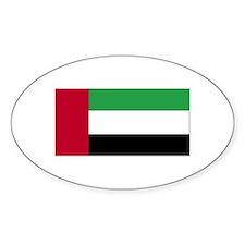 United Arab Emirates Oval Bumper Stickers
