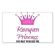 Kenyan Princess Rectangle Decal
