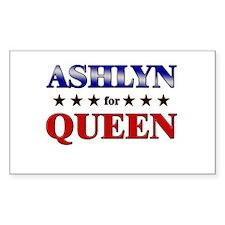ASHLYN for queen Rectangle Decal