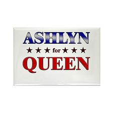 ASHLYN for queen Rectangle Magnet