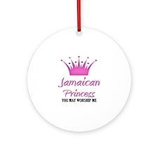 Jamaican Princess Ornament (Round)
