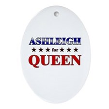 ASHLEIGH for queen Oval Ornament