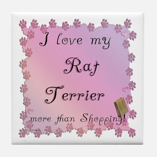 Rat Shopping Tile Coaster