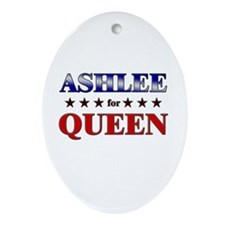 ASHLEE for queen Oval Ornament