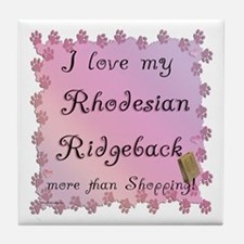 Ridgeback Shopping Tile Coaster