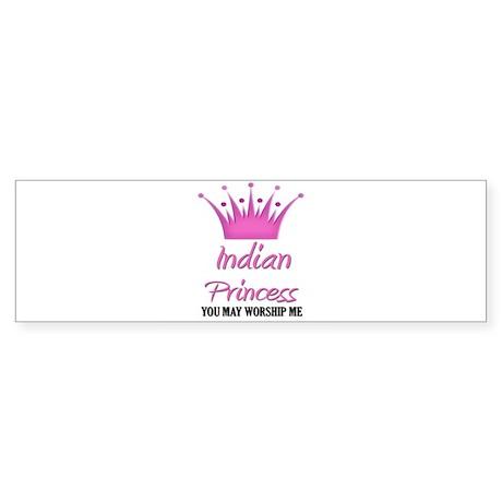 Indian Princess Bumper Sticker