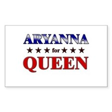 ARYANNA for queen Rectangle Decal
