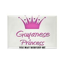 Guyanese Princess Rectangle Magnet (10 pack)