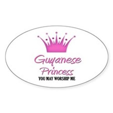 Guyanese Princess Oval Decal