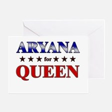 ARYANA for queen Greeting Card