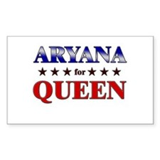 ARYANA for queen Rectangle Decal