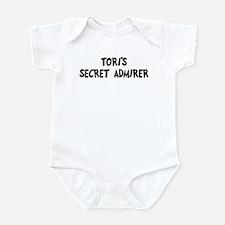 Toris secret admirer Infant Bodysuit
