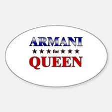 ARMANI for queen Oval Decal