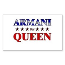 ARMANI for queen Rectangle Decal