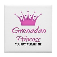 Grenadan Princess Tile Coaster