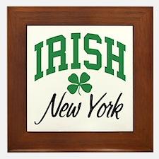 New York Irish Framed Tile