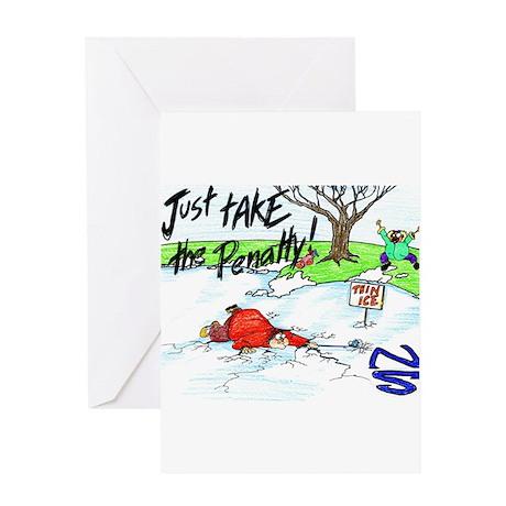 Thin Ice Greeting Card