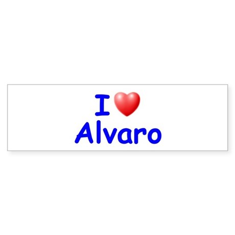 I Love Alvaro (Blue) Bumper Sticker