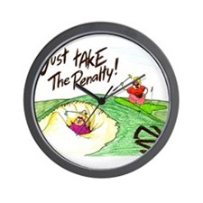 In The Sand Trap Wall Clock