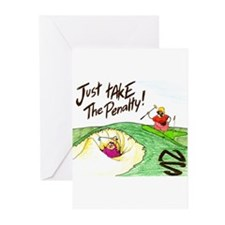 In The Sand Trap Greeting Cards (Pk of 10)