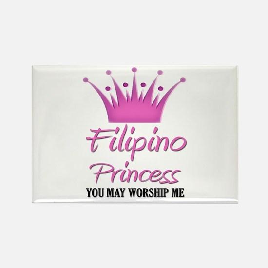 Filipino Princess Rectangle Magnet
