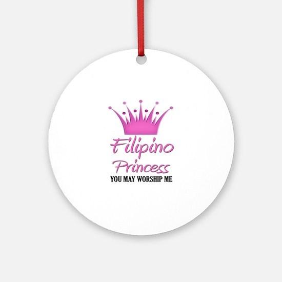 Filipino Princess Ornament (Round)