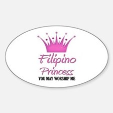 Filipino Princess Oval Decal