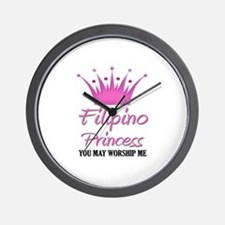 Filipino Princess Wall Clock