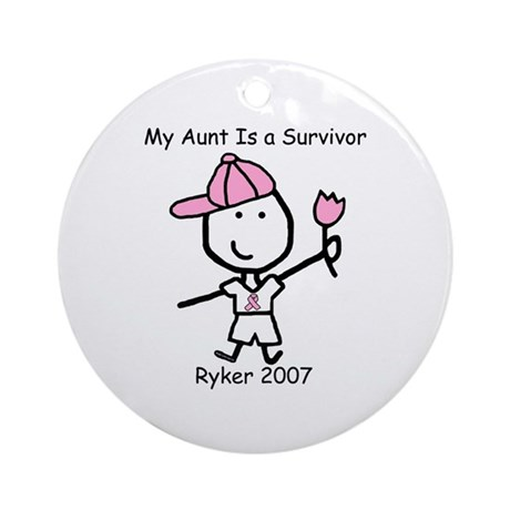 Pink Ribbon - Ryker Ornament (Round)