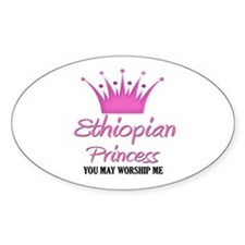 Ethiopian Princess Oval Decal