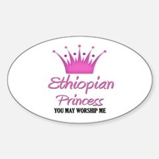 Ethiopian Princess Oval Decal
