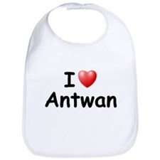 I Love Antwan (Black) Bib